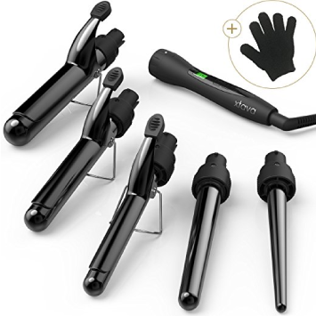 xtava-5-in-1-Professional-Curling-Wand-and-Curling-Iron-Set --Best-Overall-Curling-Wand-For-Thick-Hair